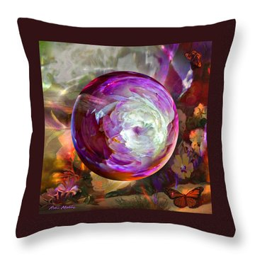 Butterfly Garden Globe Throw Pillow