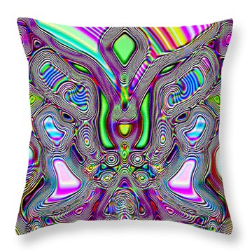Butterfly Groove Throw Pillow by Susan Kinney