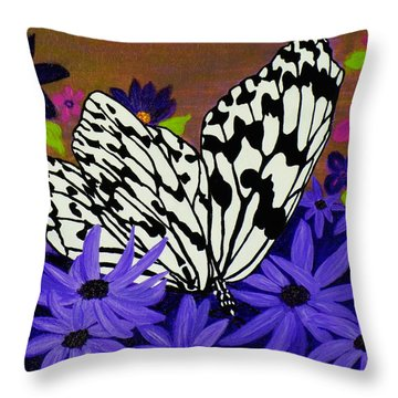 Butterfly Heaven Throw Pillow by Celeste Manning