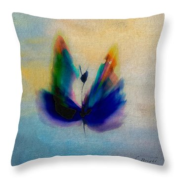Throw Pillow featuring the digital art Butterfly In Color by Frank Bright