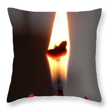 Butterfly Flame Throw Pillow