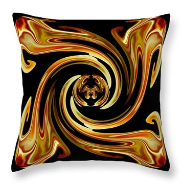 Throw Pillow featuring the digital art Butterfly In The Center by rd Erickson