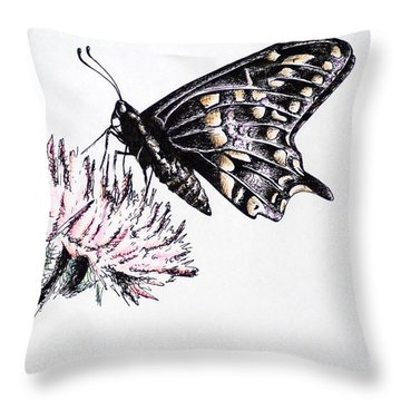 Butterfly Throw Pillow by Katharina Filus