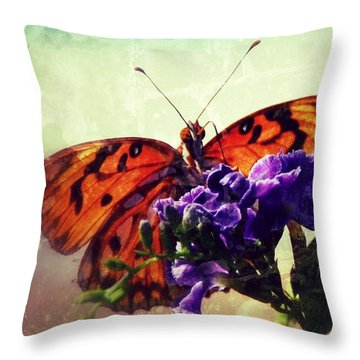 Butterfly Kissed Throw Pillow