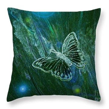 Butterfly Magic By Jrr Throw Pillow by First Star Art