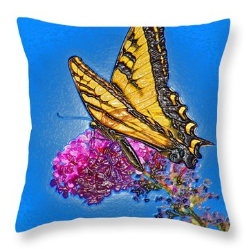 Throw Pillow featuring the photograph Butterfly by Patrick Witz