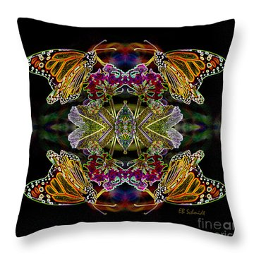 Butterfly Reflections 02 - Monarch Throw Pillow