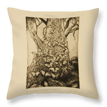 Butterfly Series Throw Pillow by Katherine Puterka