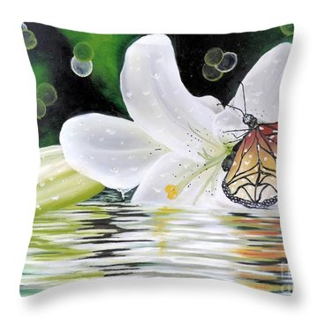 Butterfly Series Seven Throw Pillow