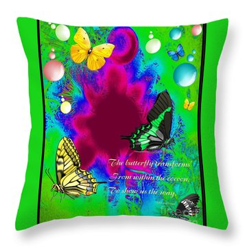 Butterfly Shows The Way Throw Pillow