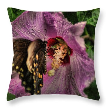 Butterfly Slurpy Throw Pillow