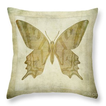 Butterfly Textures Throw Pillow by John Edwards