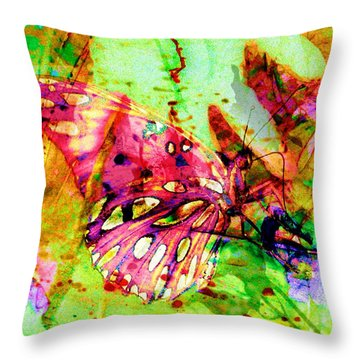 Butterfly That Was A Muscian Throw Pillow