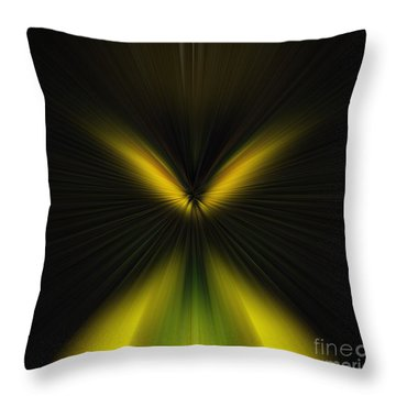 Throw Pillow featuring the digital art Butterfly by Trena Mara