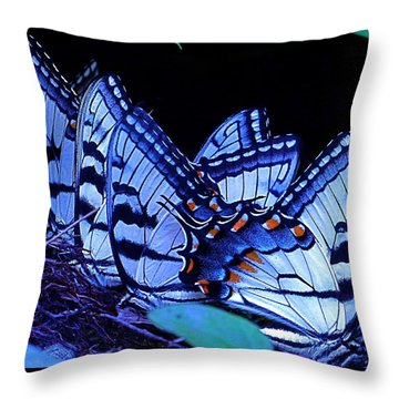 Butterfly Wings Throw Pillow by Rita Mueller