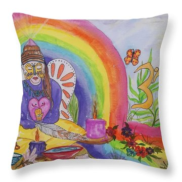 Butterfly Woman Healer I Am Throw Pillow