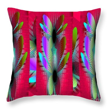 Butterfly World Throw Pillow by Iris Gelbart