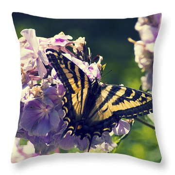 Throw Pillow featuring the photograph Butterfly by Yulia Kazansky