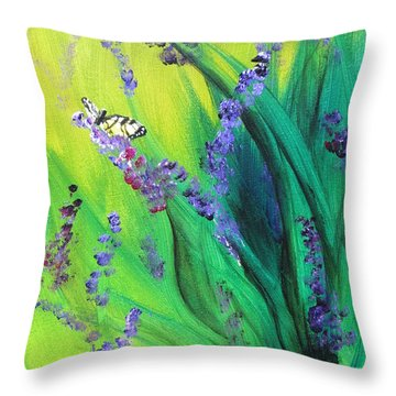 Butterfly1 Throw Pillow by Laurianna Taylor
