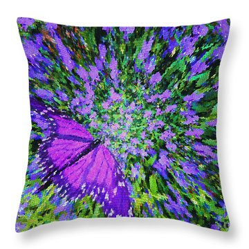 Butterfly.1 Throw Pillow by Mariarosa Rockefeller