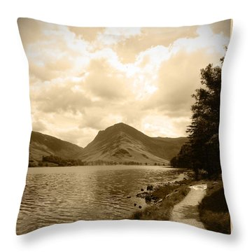 Buttermere Bright Sky Throw Pillow
