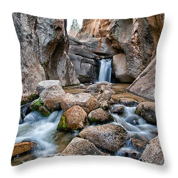 Buttermilks Waterfall Throw Pillow