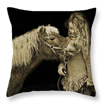 Butterscotch Throw Pillow by Joan Davis