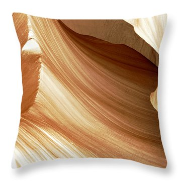 Butterscotch Taffy Antelope Canyon Throw Pillow