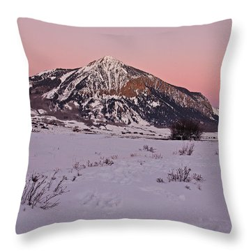 Butte's Winter Glow Throw Pillow