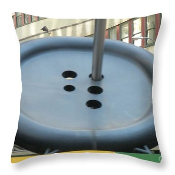 Throw Pillow featuring the photograph Button Button by Luther Fine Art