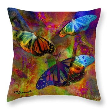 Buttrerfly Collage All About Butterflies Throw Pillow