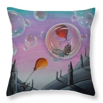 Buubble Trouble Throw Pillow