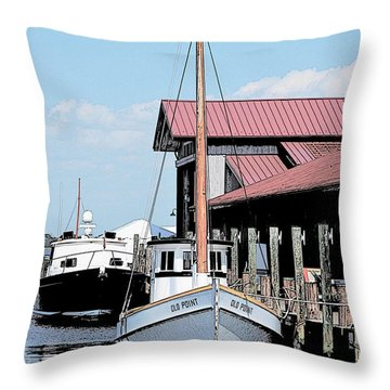 Buy Boat Old Point Throw Pillow