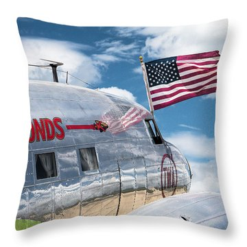 Throw Pillow featuring the photograph Buy Bonds by Steven Bateson
