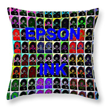 Buy Epson Ink Throw Pillow by Bartz Johnson