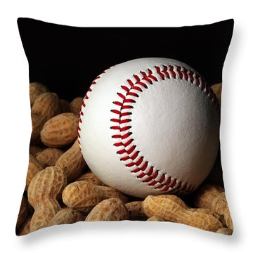 Buy Me Some Peanuts - Baseball - Nuts - Snack - Sport Throw Pillow by Andee Design