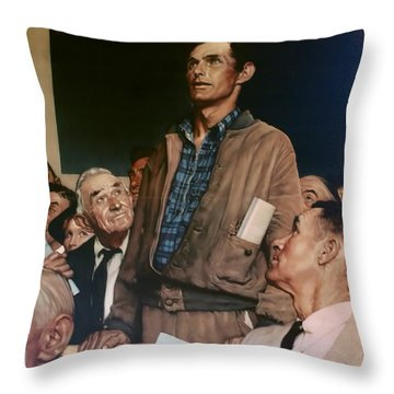 Throw Pillow featuring the photograph Buy War Bonds by B Wayne Mullins