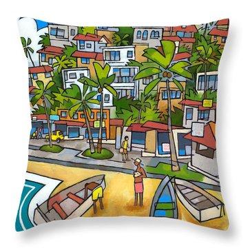 Buzios Throw Pillow by Douglas Simonson