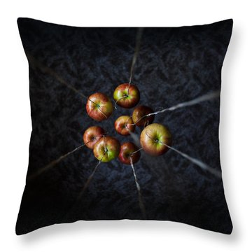 Throw Pillow featuring the photograph By A Thread by Aaron Aldrich