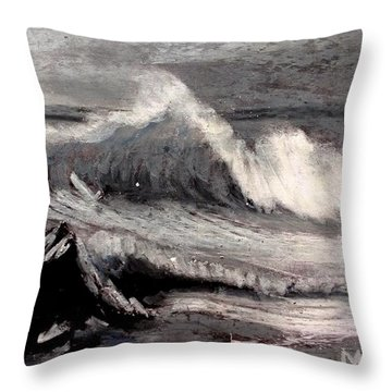 By Albert Bierstadt Throw Pillow by Maria Leah Comillas
