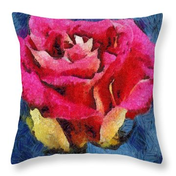 Throw Pillow featuring the digital art By Any Other Name by Joe Misrasi