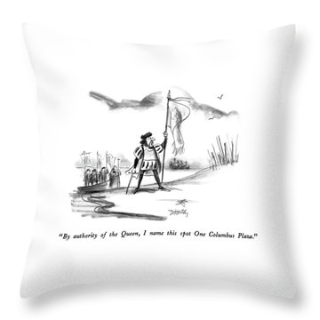 By Authority Of The Queen Throw Pillow