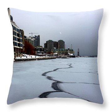 By Frozen Harbour Throw Pillow