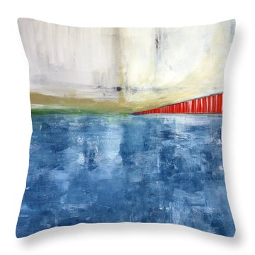 By The Bay- Abstract Art Throw Pillow