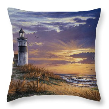 Throw Pillow featuring the painting By The Bay by Kyle Wood