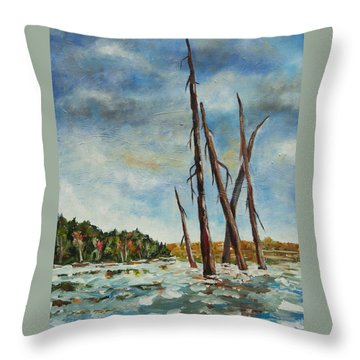 By The Boardwalk Throw Pillow by Heather Kertzer
