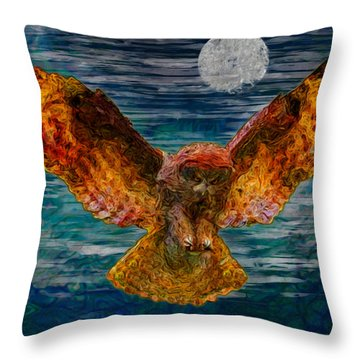 By The Light Of The Moon Throw Pillow by Jack Zulli