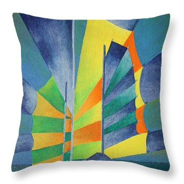 Throw Pillow featuring the painting By The Light Of The Silvery Moon by Tracey Harrington-Simpson