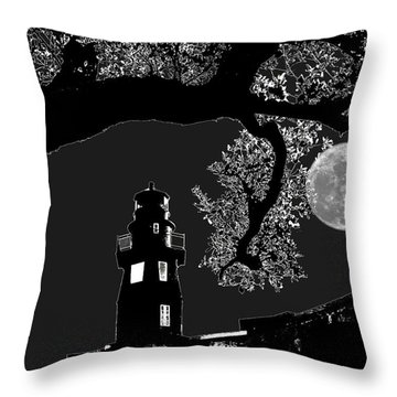 Throw Pillow featuring the photograph By The Light by Robert McCubbin