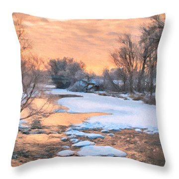 By The Old Mill Throw Pillow